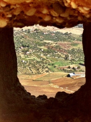 Through the Window of an Italian Castle