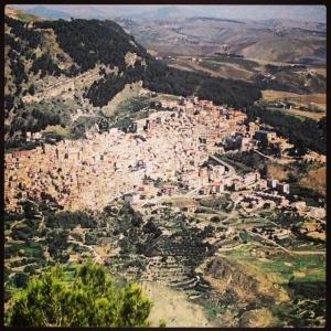 Italian Hill Town, Castronovo in Sicilia